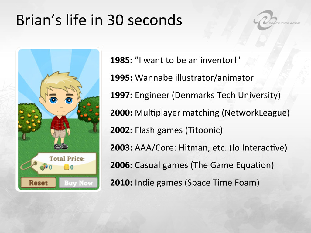 Brian's life in 30 seconds  1985...