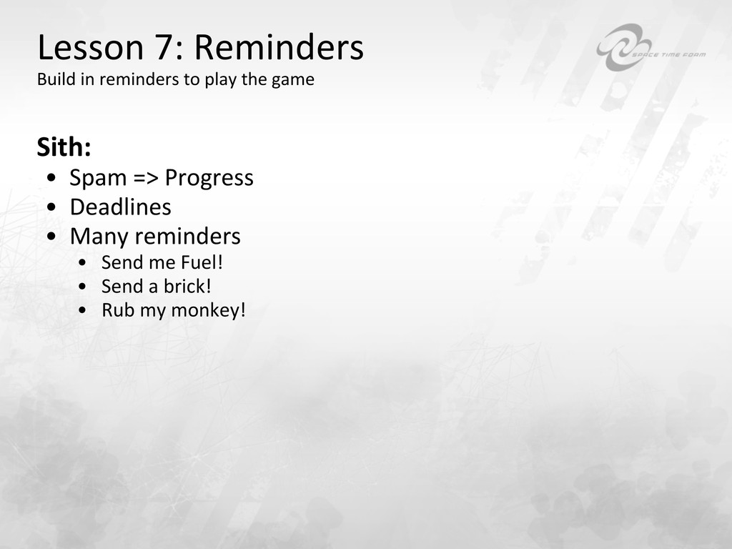 Lesson 7: Reminders  Build in re...