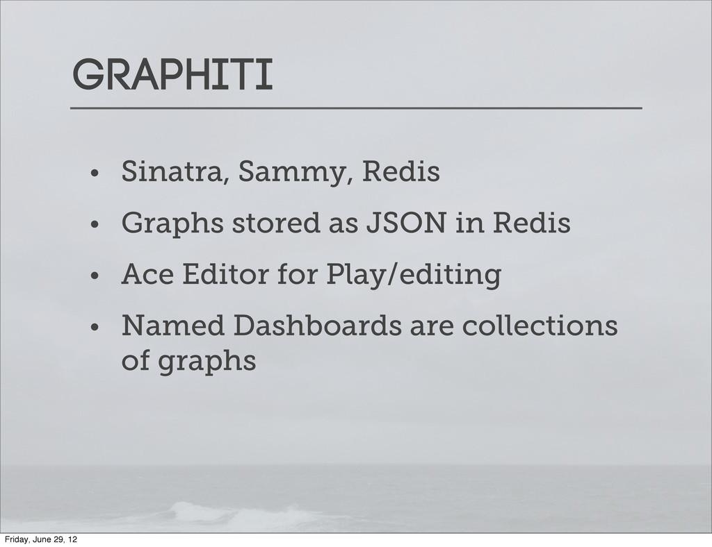 Graphiti • Sinatra, Sammy, Redis • Graphs store...
