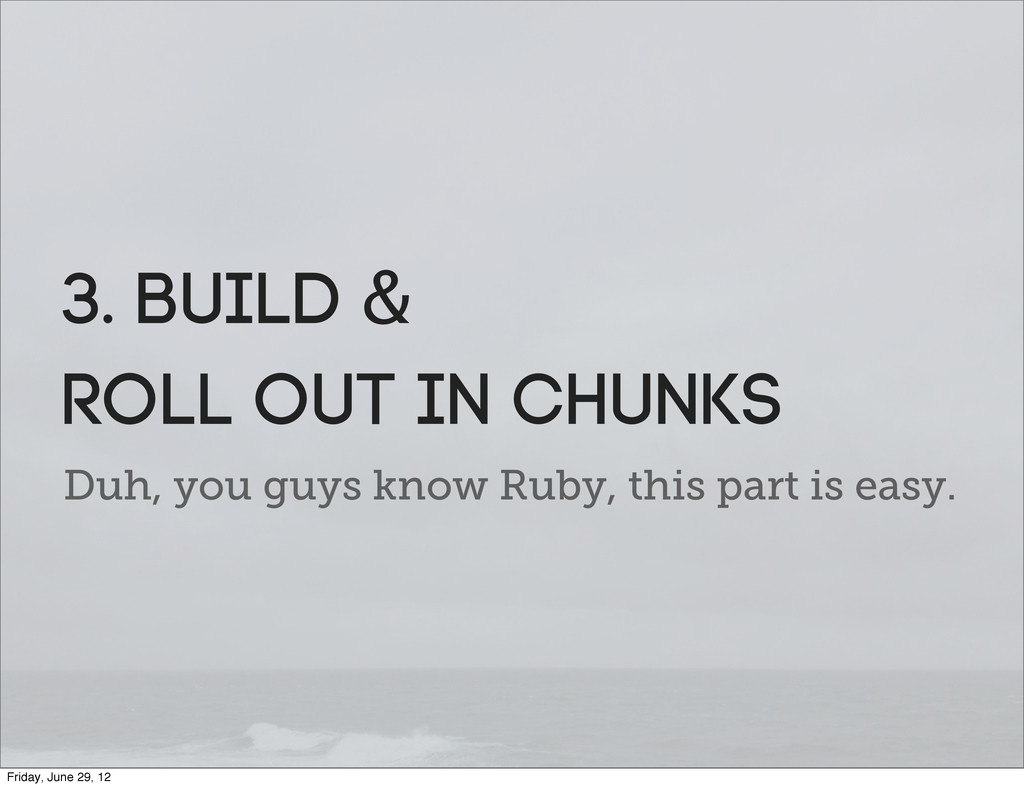 Duh, you guys know Ruby, this part is easy. 3. ...