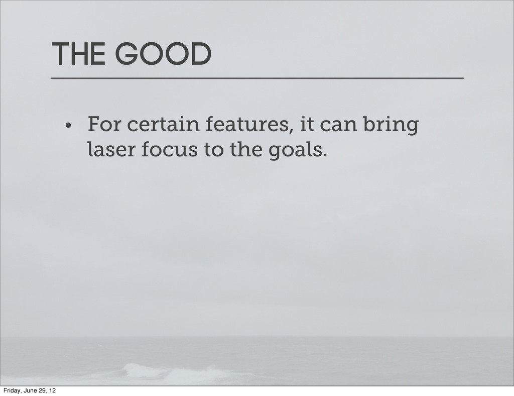 The good • For certain features, it can bring l...
