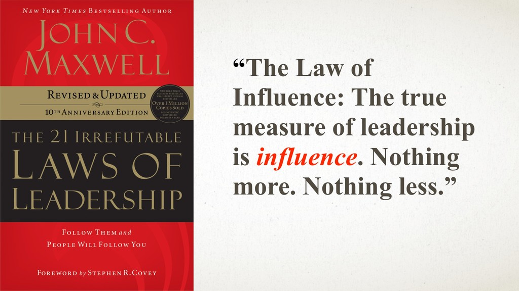"@ANJ UAN ""The Law of Influence: The true measur..."
