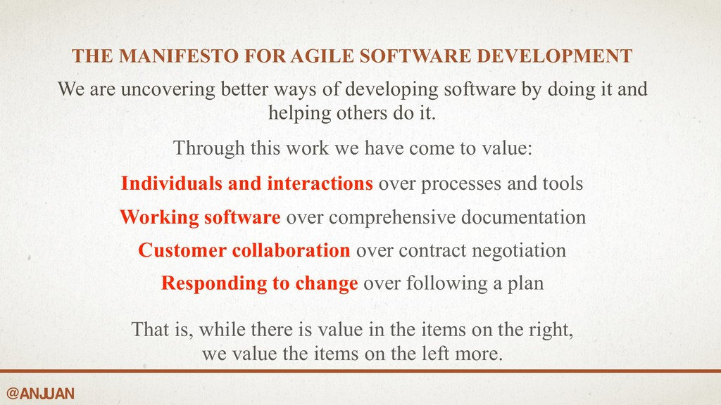 @ANJ UAN THE MANIFESTO FOR AGILE SOFTWARE DEVEL...