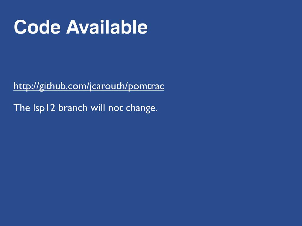 Code Available http://github.com/jcarouth/pomtr...