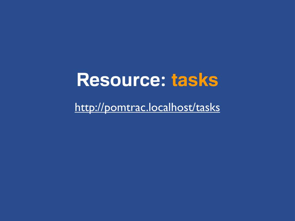Resource: tasks http://pomtrac.localhost/tasks