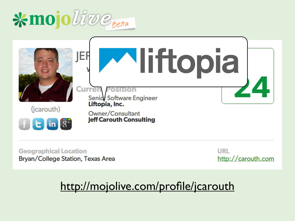 http://mojolive.com/profile/jcarouth