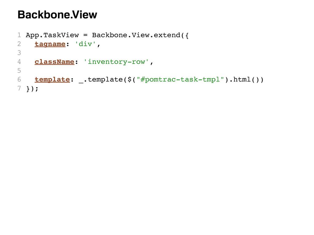 1 App.TaskView = Backbone.View.extend({ 2 tagna...