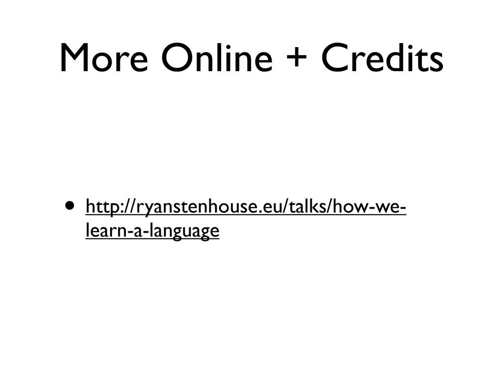 More Online + Credits • http://ryanstenhouse.eu...