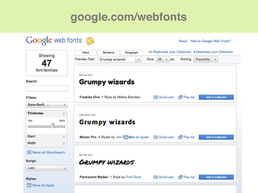 google.com/webfonts
