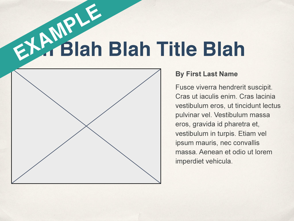 Blah Blah Blah Title Blah By First Last Name Fu...