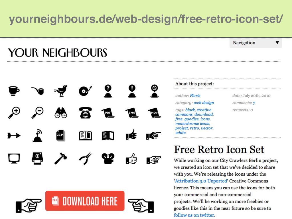 yourneighbours.de/web-design/free-retro-icon-se...