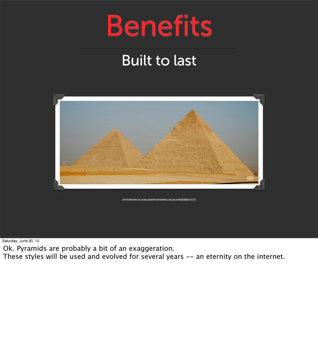 Benefits Built to last http://www.flickr.com/ph...