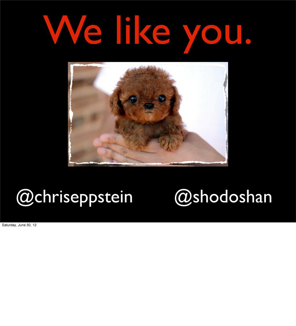 We like you. @shodoshan @chriseppstein Saturday...