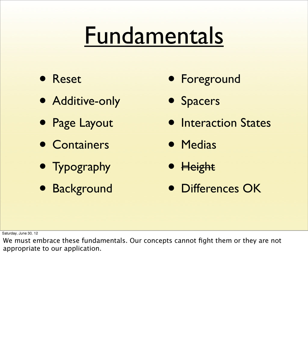 Fundamentals • Reset • Additive-only • Page Lay...