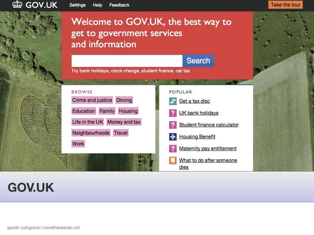 GOV.UK gareth rushgrove | morethanseven.net