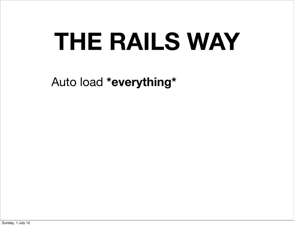 THE RAILS WAY Auto load *everything* Sunday, 1 ...