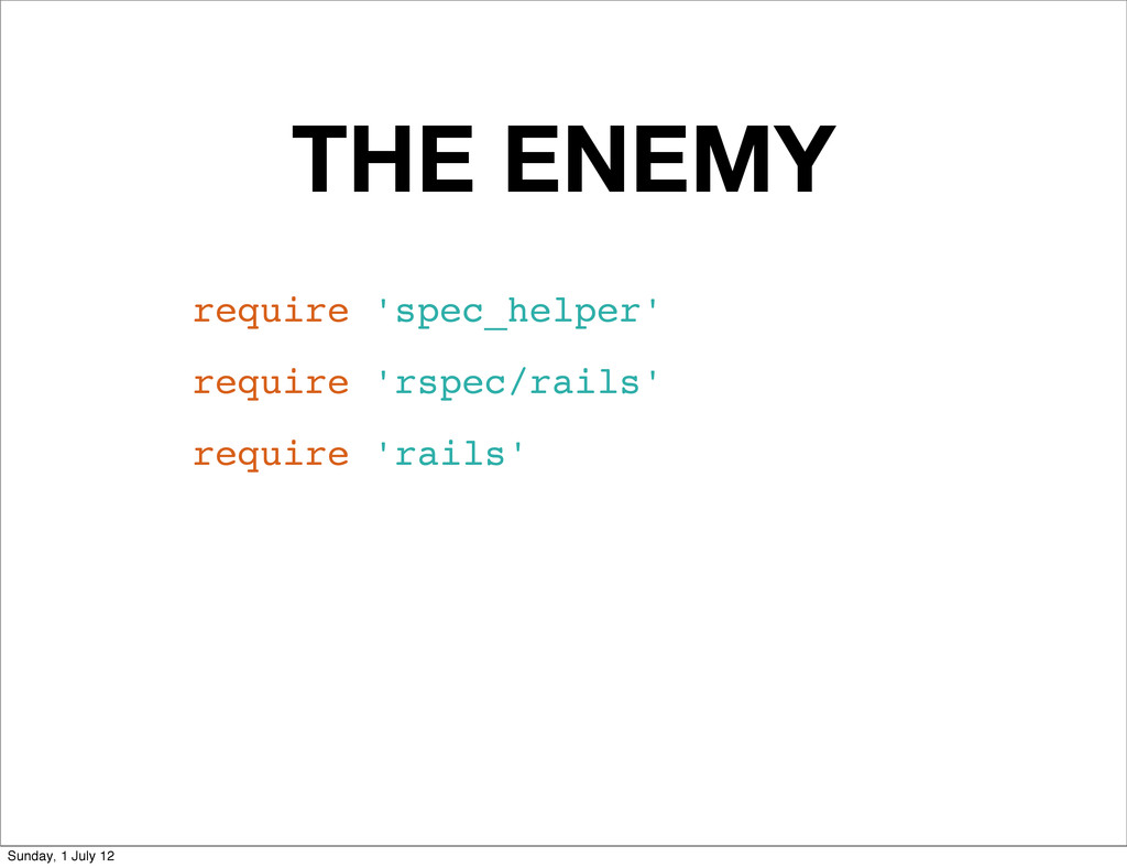 THE ENEMY require 'spec_helper' require 'rspec/...