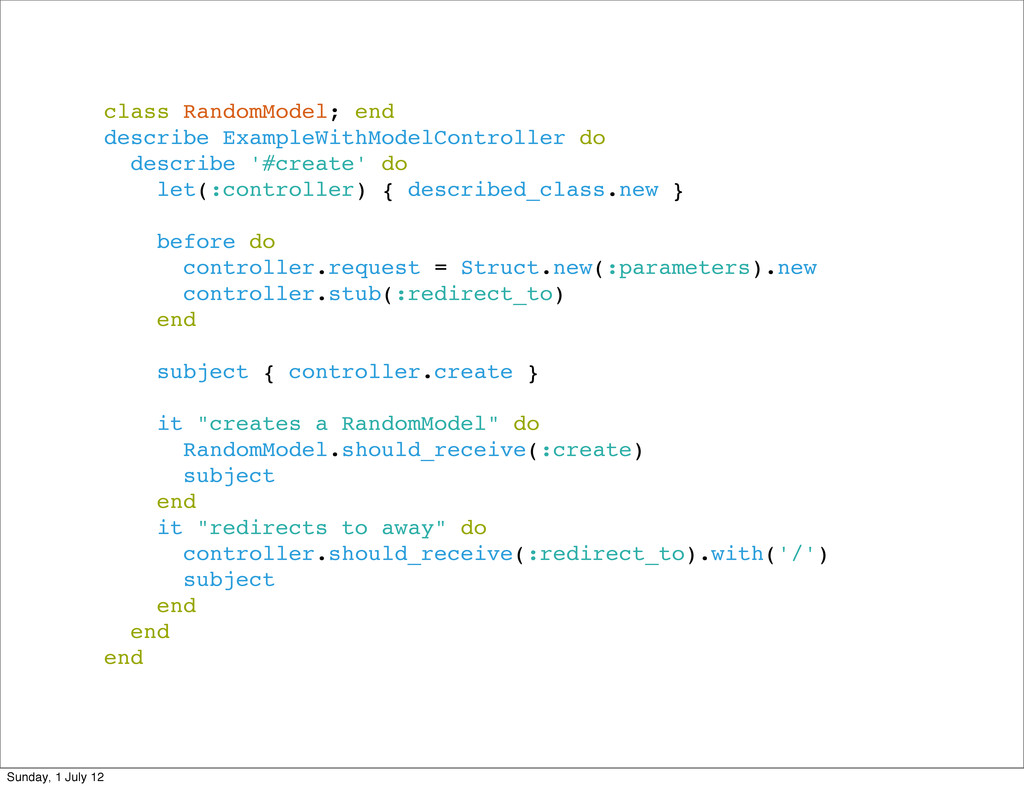 class RandomModel; end describe ExampleWithMode...