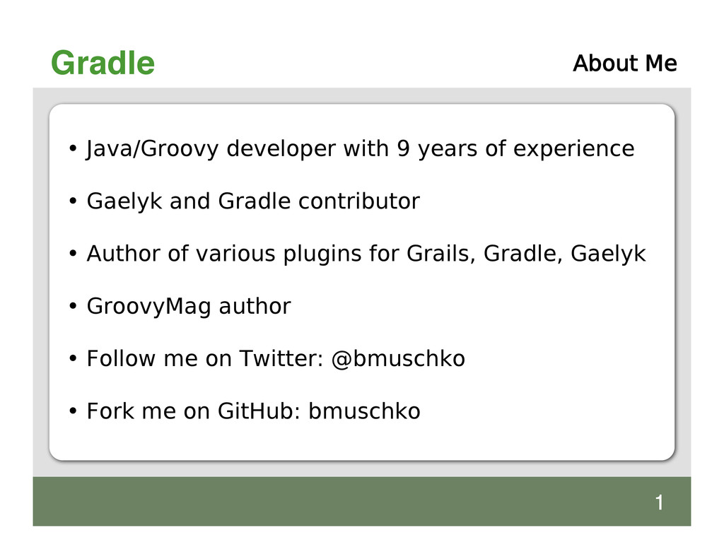 Gradle • Java/Groovy developer with 9 years of ...