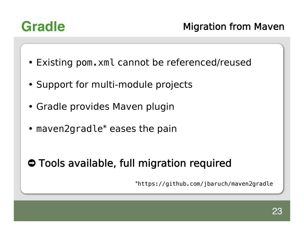 Gradle Migration from Maven • Existing pom.xml ...