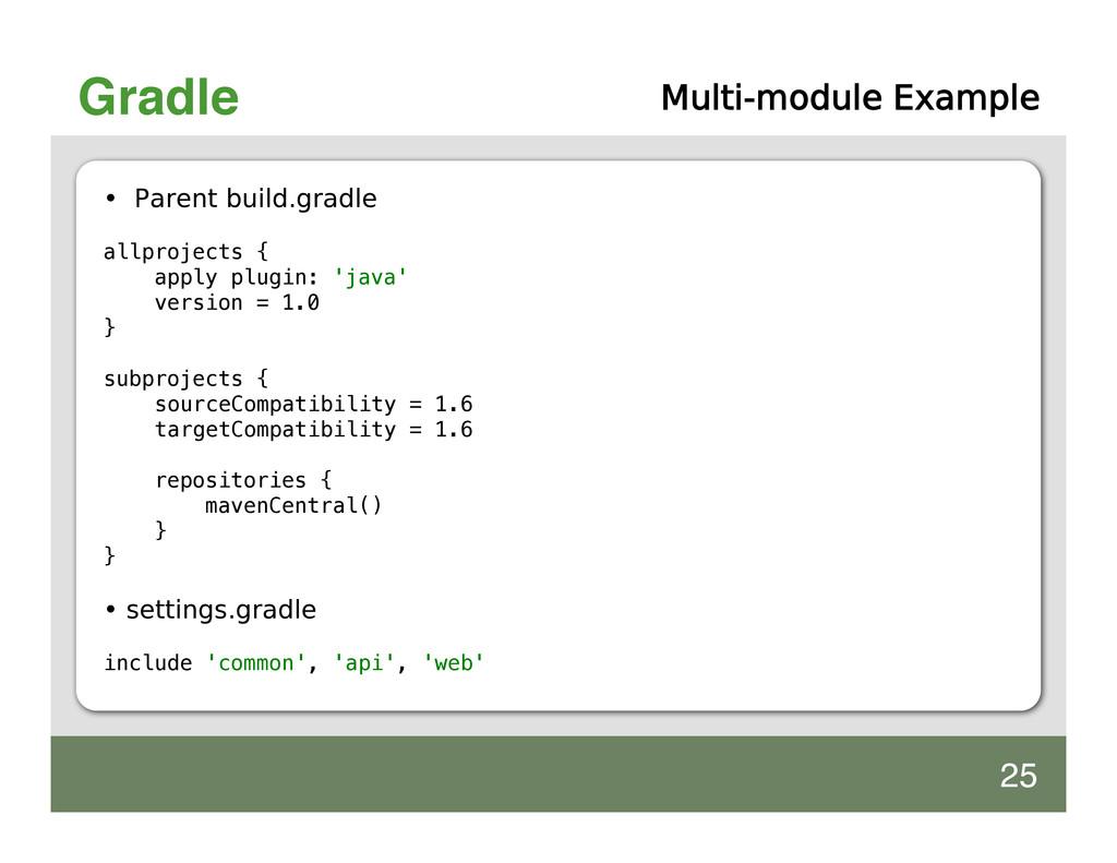 Gradle Multi-module Example • Parent build.grad...
