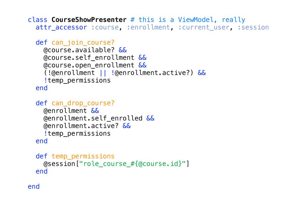 class CourseShowPresenter # this is a ViewModel...