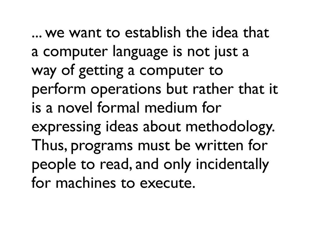 ... we want to establish the idea that a comput...