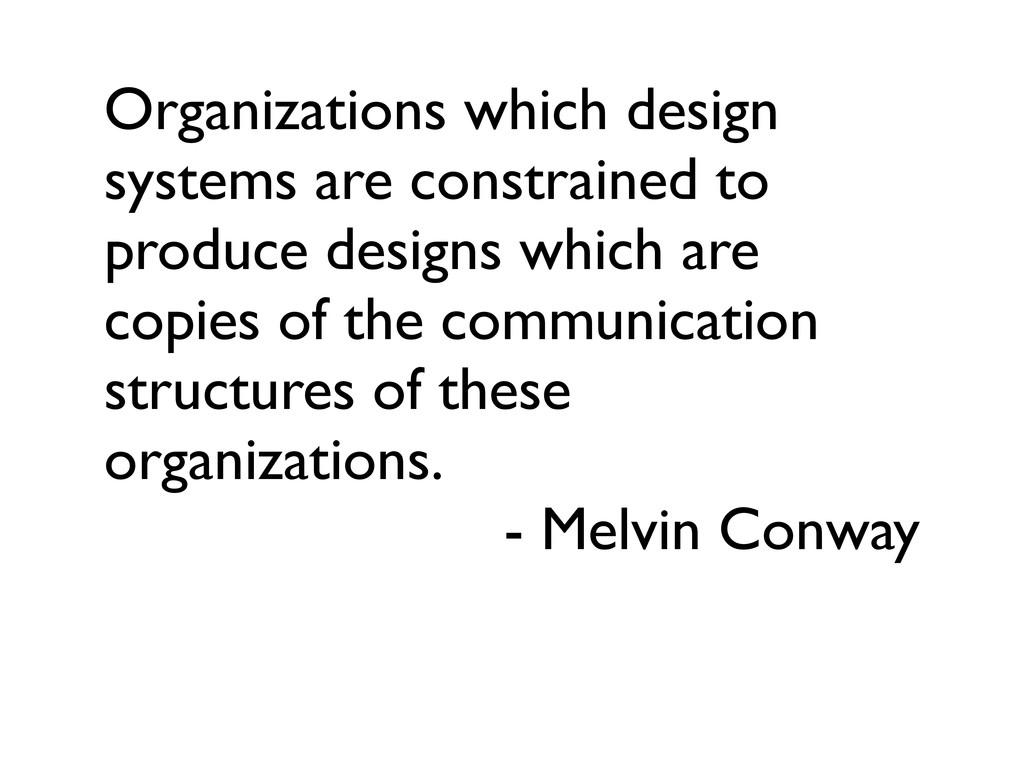 Organizations which design systems are constrai...
