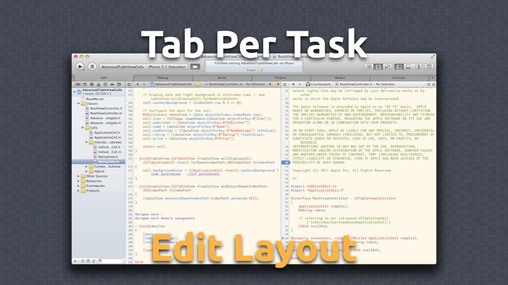 Tab Per Task Edit Layout