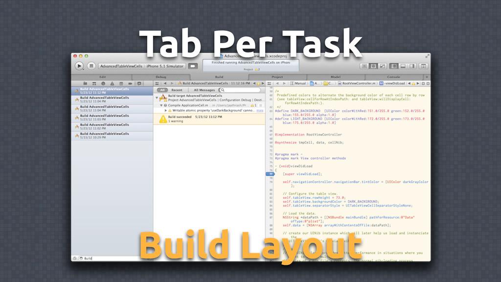 Tab Per Task Build Layout