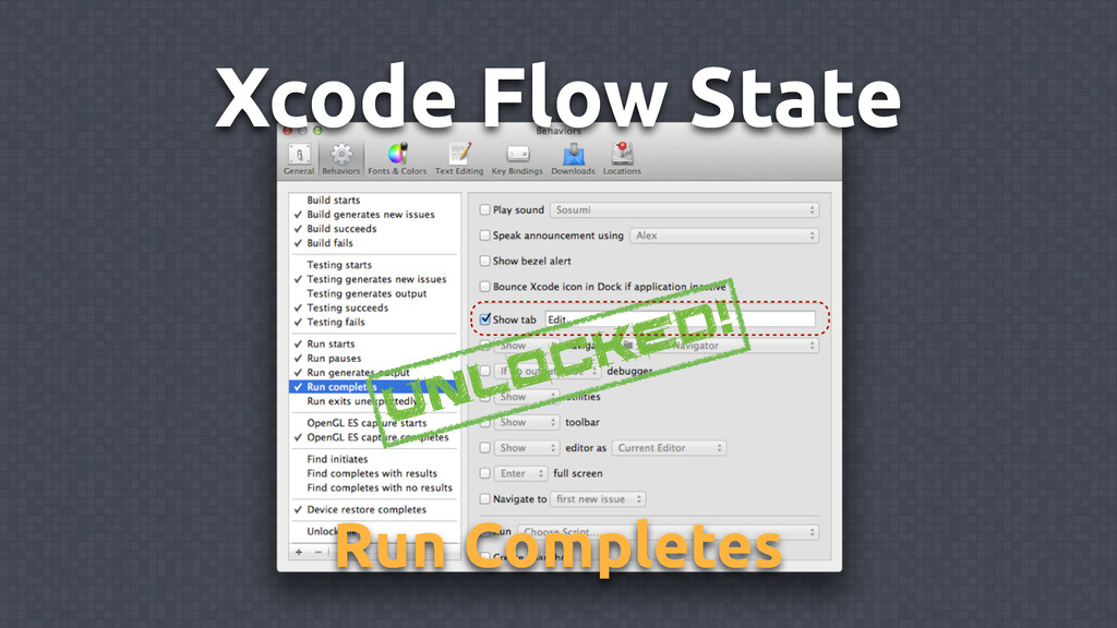 Xcode Flow State Unlocked! Run Completes