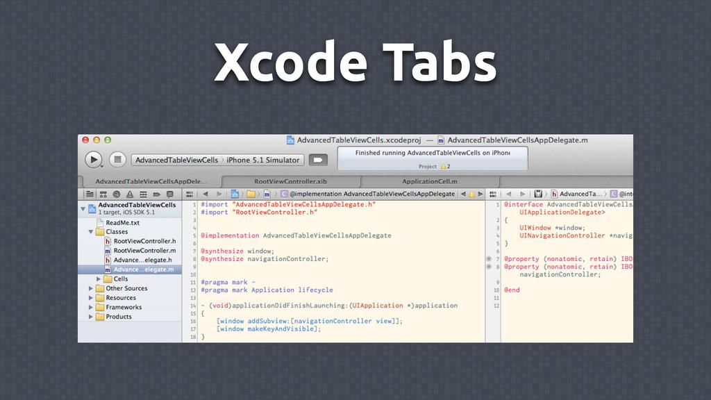 Xcode Tabs