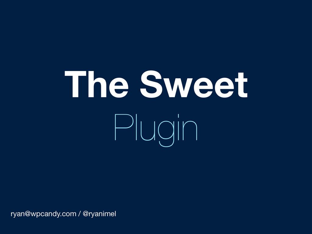 ryan@wpcandy.com / @ryanimel The Sweet Plugin
