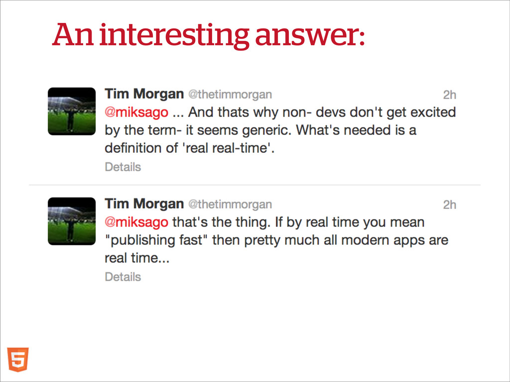 An interesting answer: