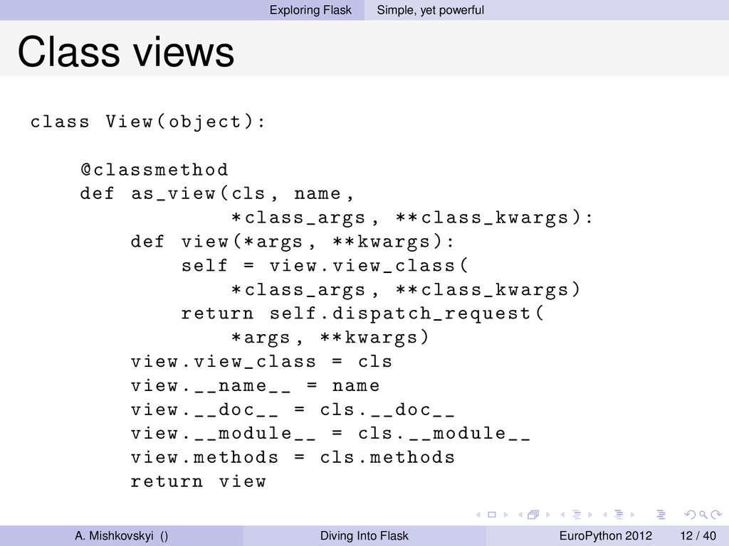 Exploring Flask Simple, yet powerful Class view...