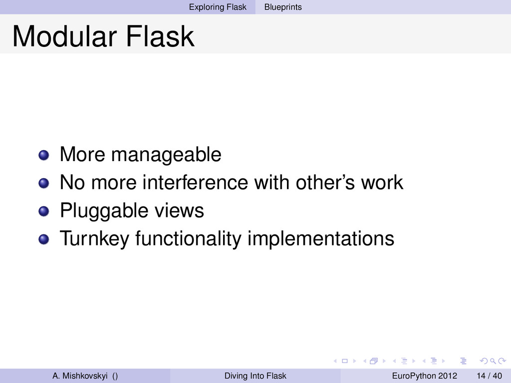 Exploring Flask Blueprints Modular Flask More m...