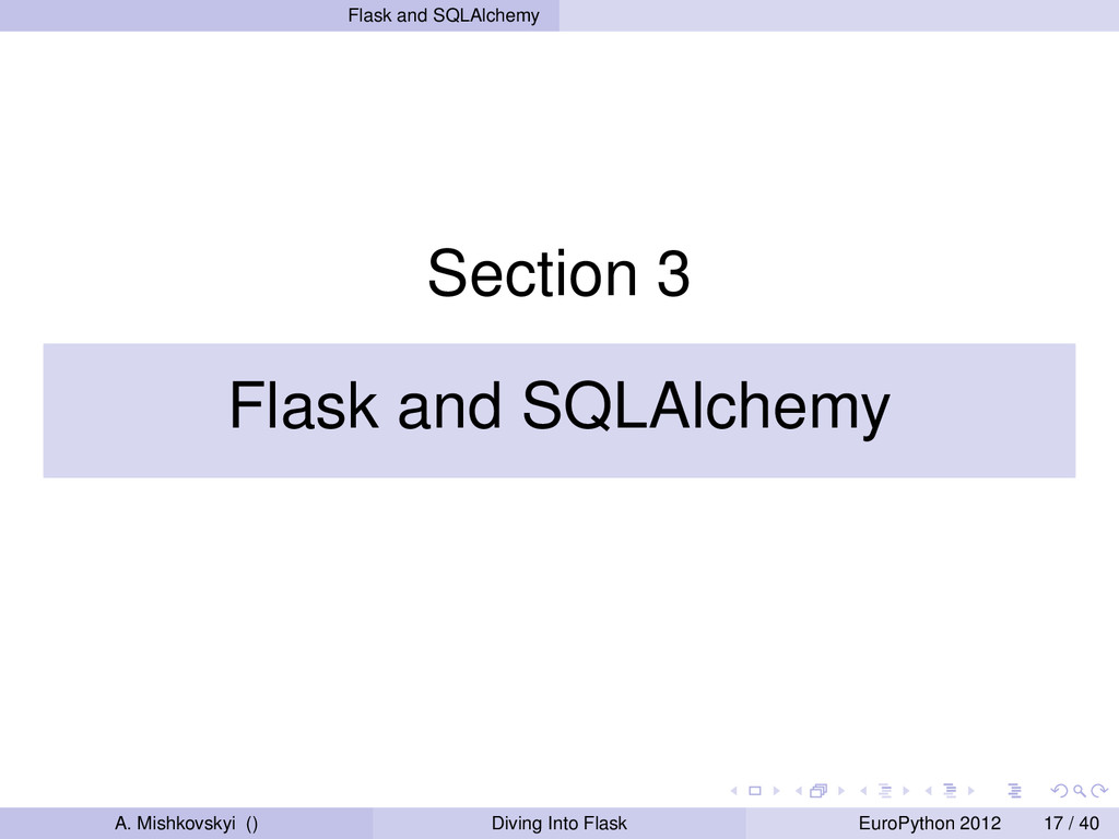 Flask and SQLAlchemy Section 3 Flask and SQLAlc...
