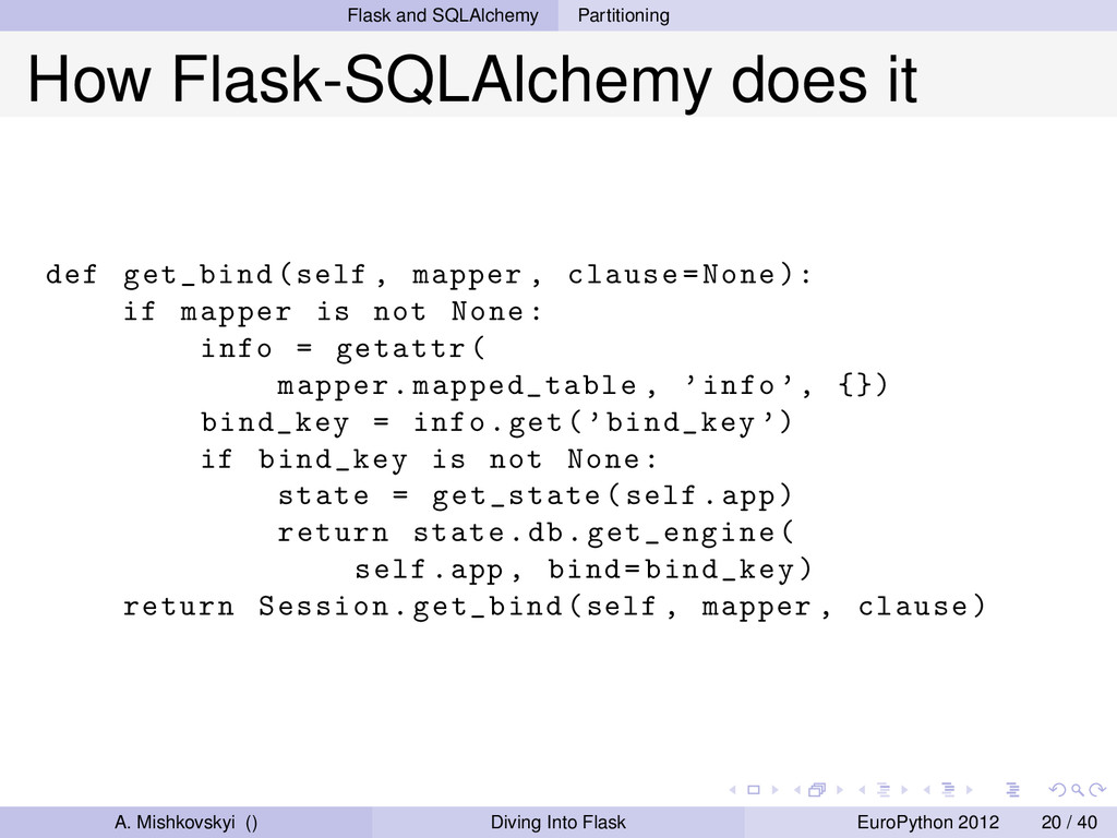 Flask and SQLAlchemy Partitioning How Flask-SQL...