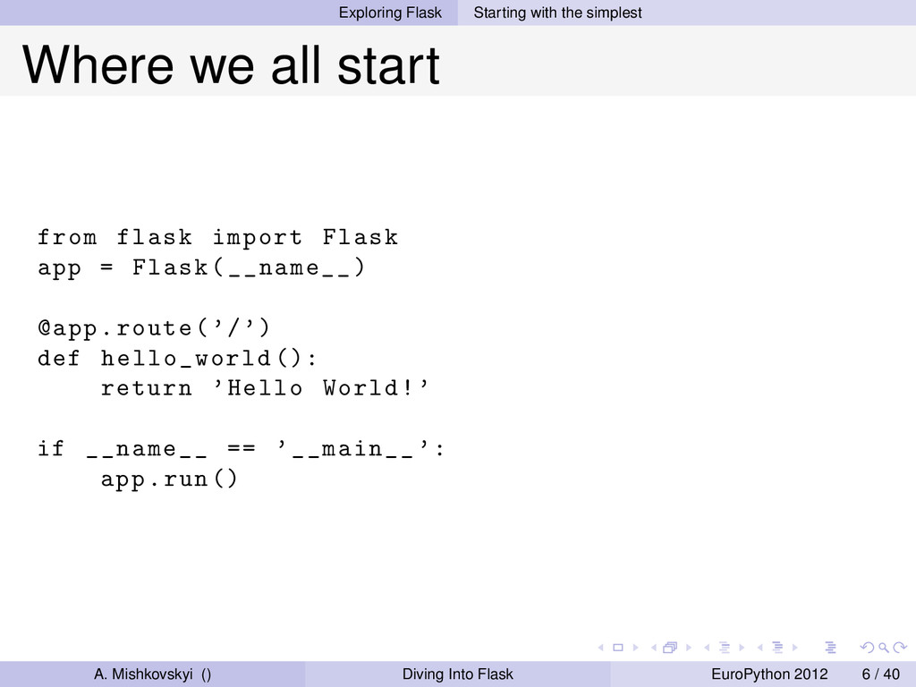 Exploring Flask Starting with the simplest Wher...