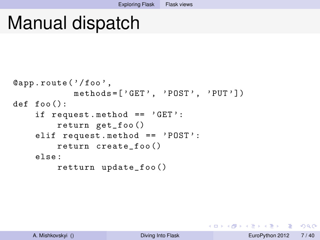 Exploring Flask Flask views Manual dispatch @ap...