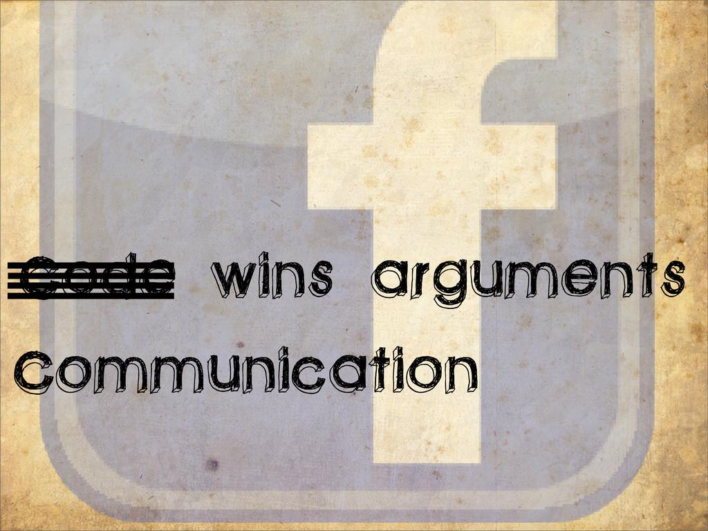 Communication Code wins arguments