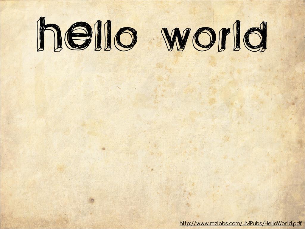 HEllo world http://www.mzlabs.com/JMPubs/HelloW...
