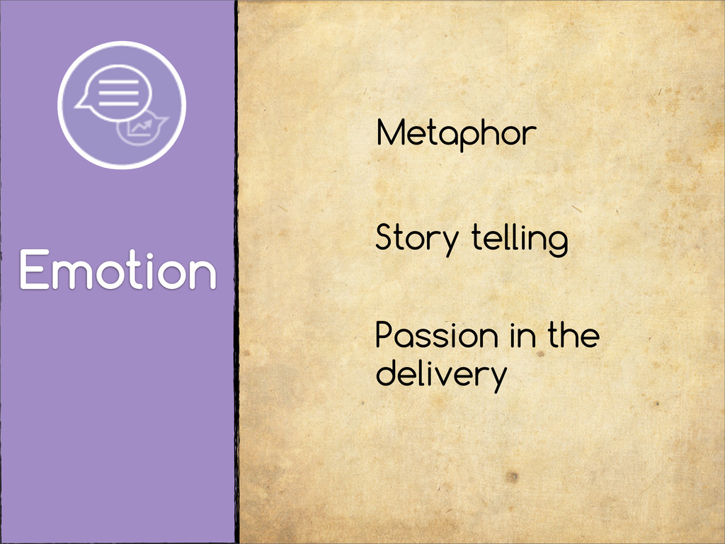 Emotion Metaphor Story telling Passion in the d...