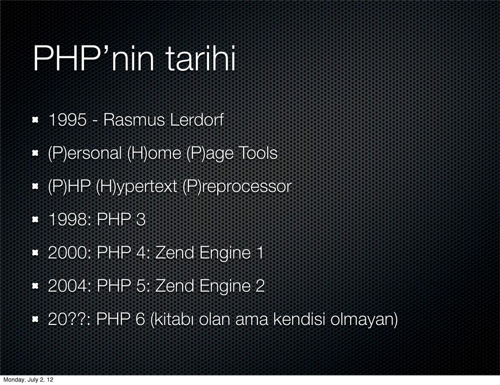 PHP'nin tarihi 1995 - Rasmus Lerdorf (P)ersonal...