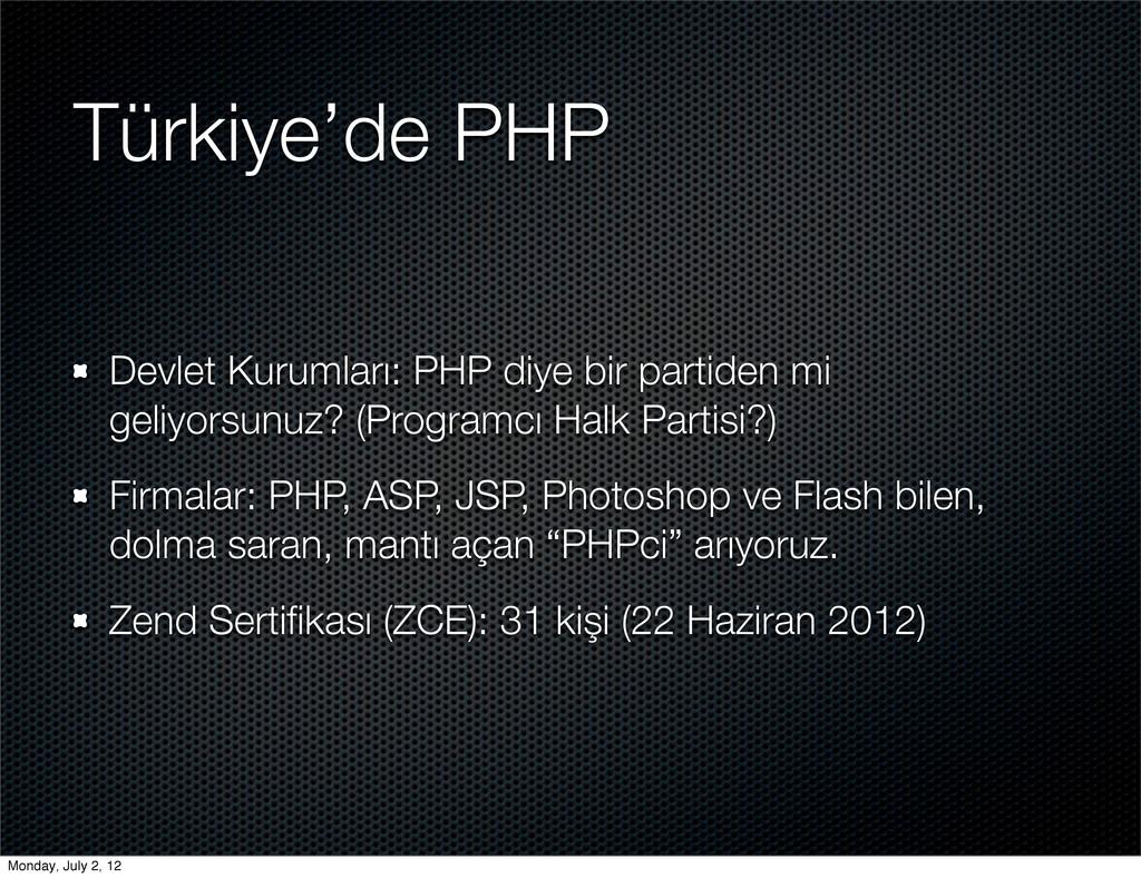 Türkiye'de PHP Devlet Kurumları: PHP diye bir p...