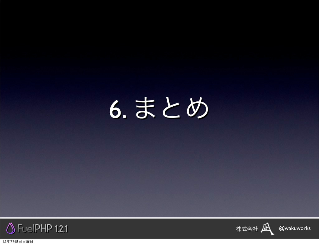 6. ·ͱΊ 1.2.1 @wakuworks גࣜձࣾ 127݄8༵