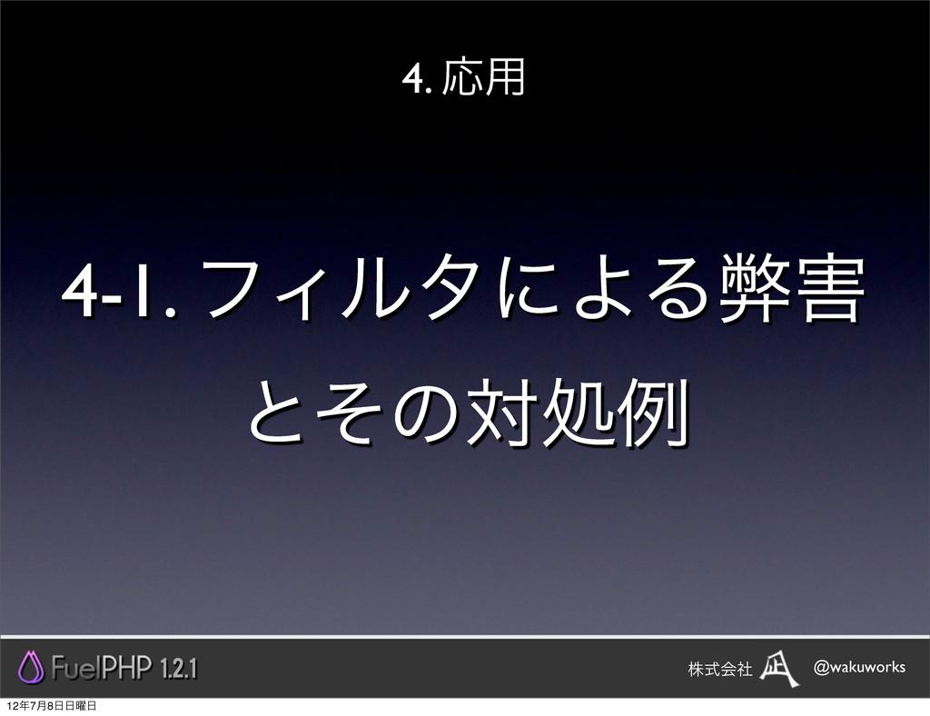 4-1. ϑΟϧλʹΑΔฐ ͱͦͷରॲྫ 4. Ԡ༻ 1.2.1 @wakuworks גࣜ...