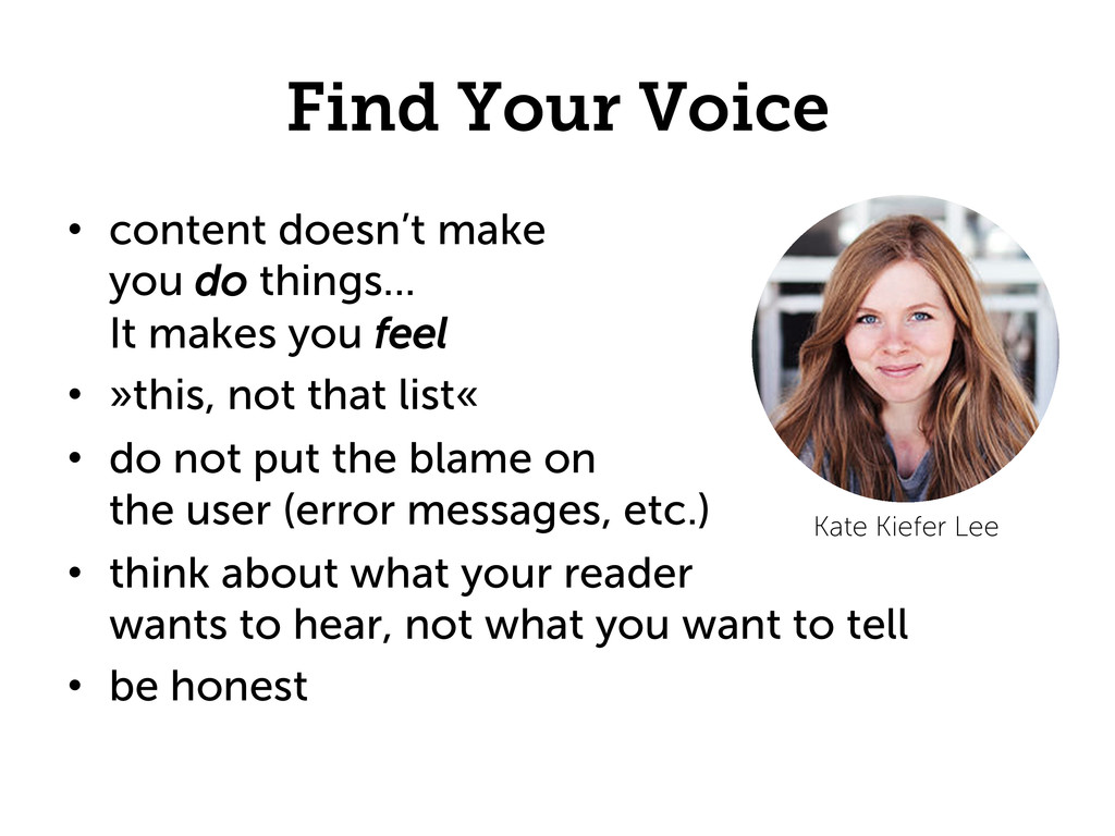 Find Your Voice •  content doesn't make you do ...