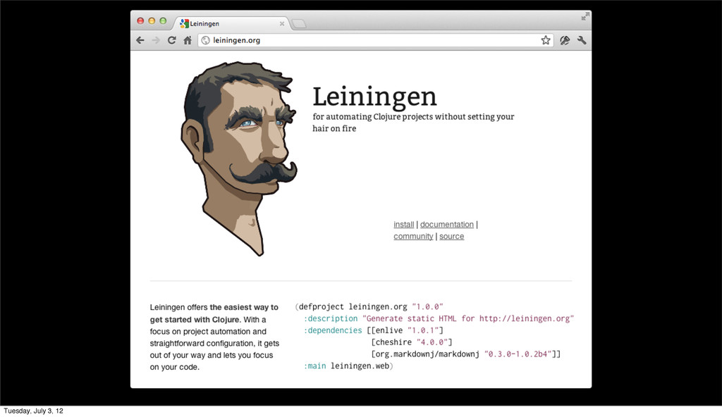 Leiningen The Clojure Project Automation tool T...