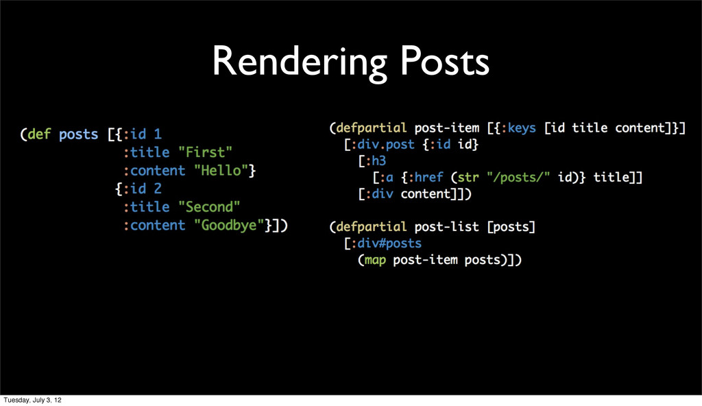 Rendering Posts Tuesday, July 3, 12
